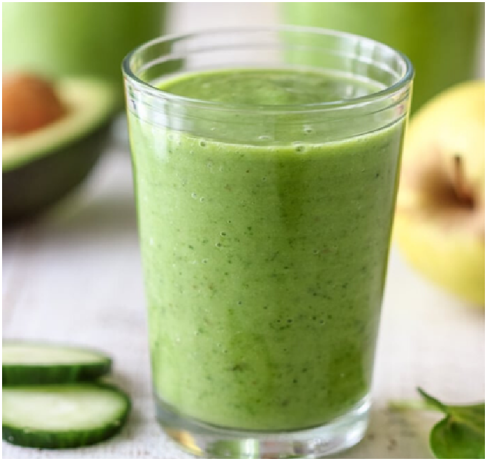 Avocado Apple Breakfast Smoothie